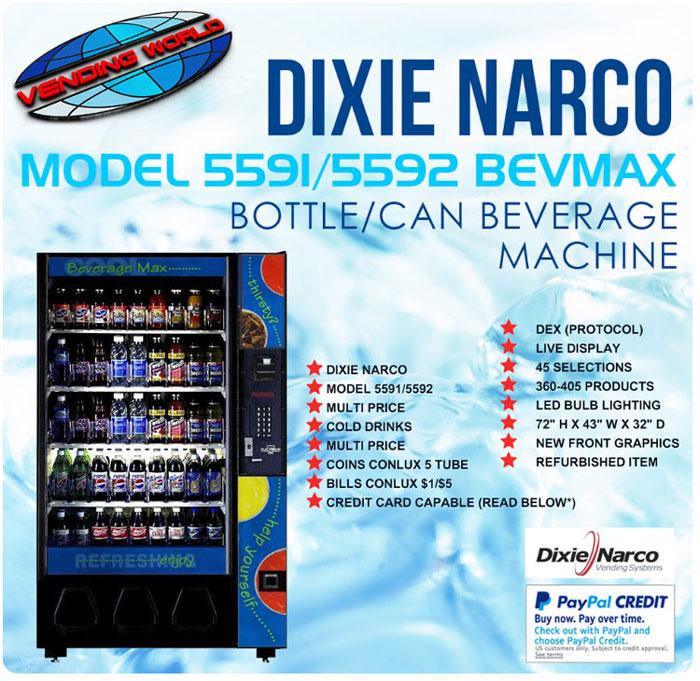 Dixie Narco Model 5591 Bevmax Beverage Machine